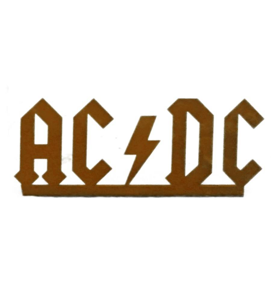 edelrost schriftzug acdc gartenaufsteller mit logo der. Black Bedroom Furniture Sets. Home Design Ideas