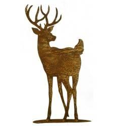 Hirsch auf Platte, Gr 1 (zum Kitz auf Platte), Höhe 26 cm