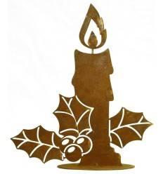 Kerze 'Magdalena' auf Bodenplatte, Höhe 25 cm