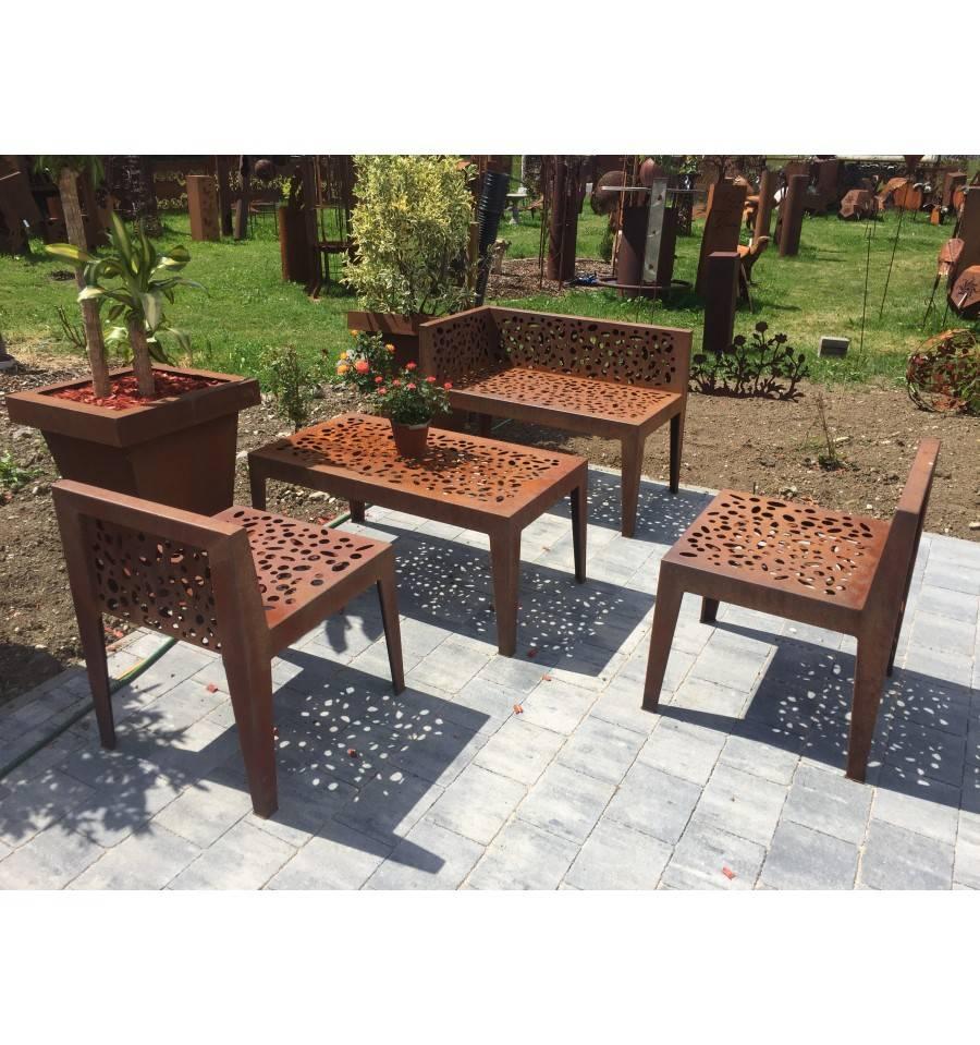 Gartentisch Topical Edelrost Hohe 46 Cm Tischflache 53 X 98 Cm