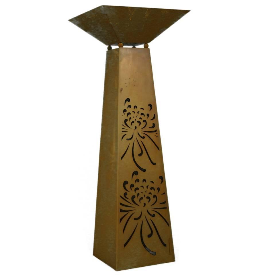 edelrost trapezs ule strohblume h he 116 5 cm incl. Black Bedroom Furniture Sets. Home Design Ideas