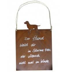 Tafel -Hund- inkl. Beschriftung