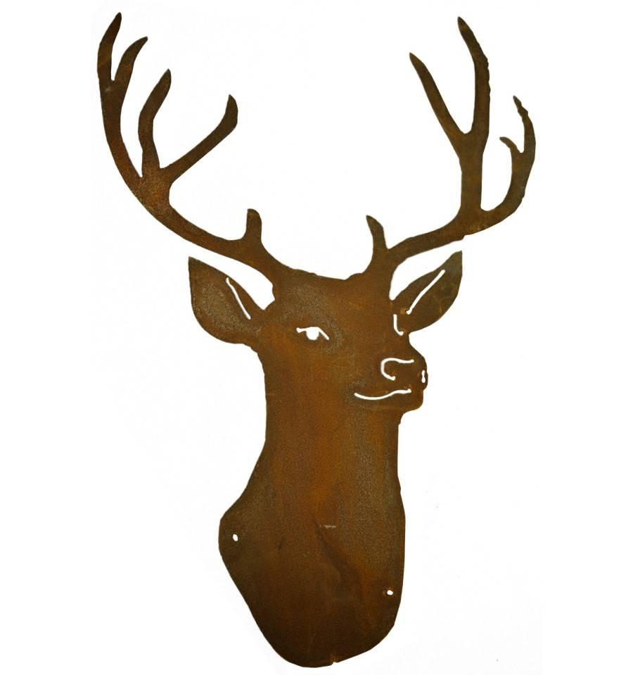 hirschtroph e stag mit gesicht zum aufh ngen h he 44 cm. Black Bedroom Furniture Sets. Home Design Ideas