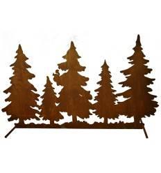 Waldhintergrund zum Stellen auf Stange, Länge 67 cm Tannen