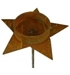 Teelichthalter Stern, Durchmesser 14 cm, Höhe 10 cm