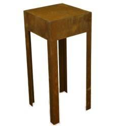 Edelrost Tisch aus 2mm Stahl, Höhe 80cm