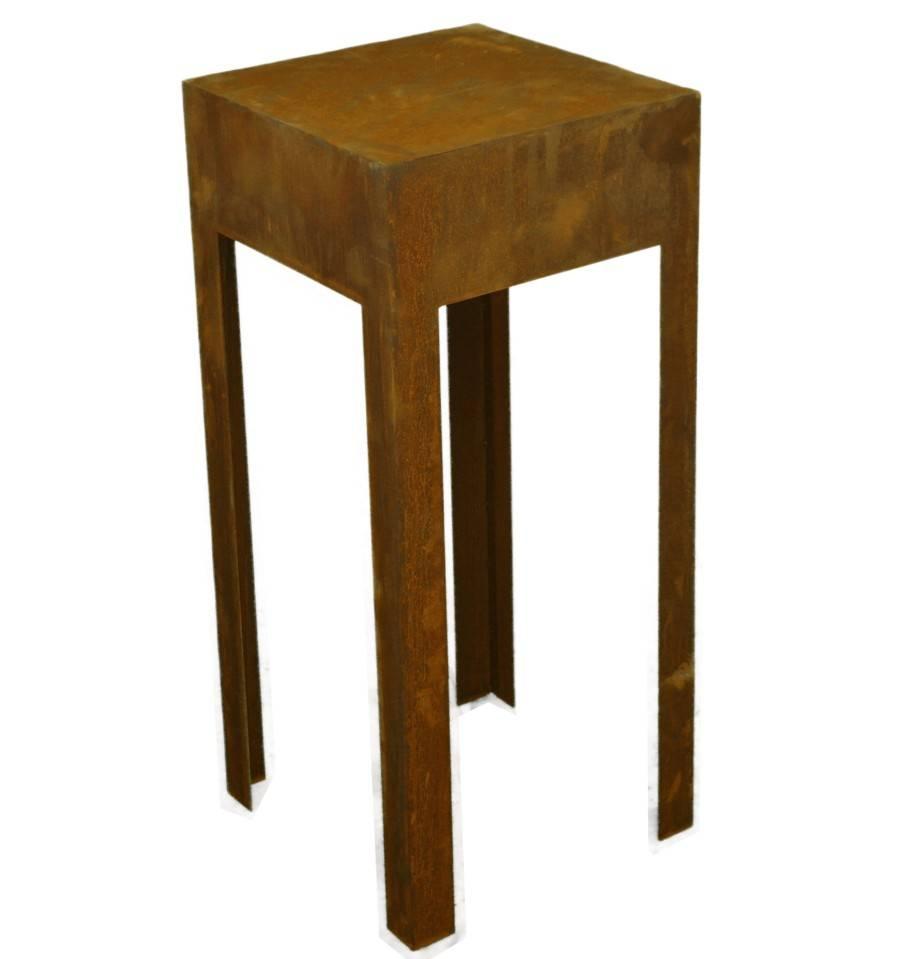 edelrost tisch aus 2mm stahl h he 80cm. Black Bedroom Furniture Sets. Home Design Ideas