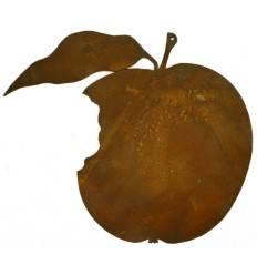 Angebissener Apfel zum Hängen, Höhe 15 cm