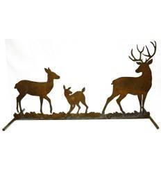 Hirschfamilie zum Stellen auf Stange, 45 cm hoch