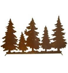 Waldhintergrund zum Stellen auf Stange, Länge 122 cm Tannen