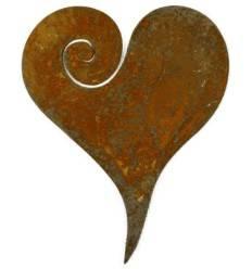 Herz Curl zum Aufhängen, Höhe 5 cm Breite 4 cm - herzliche Überraschung und Geschenkanhänger