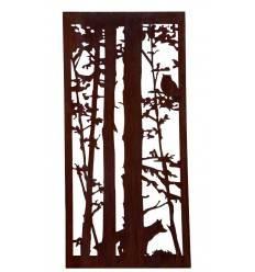 """Wild Paravent """"Fuchs und Eule"""" 200 x 90 cm ohne Umrandung"""