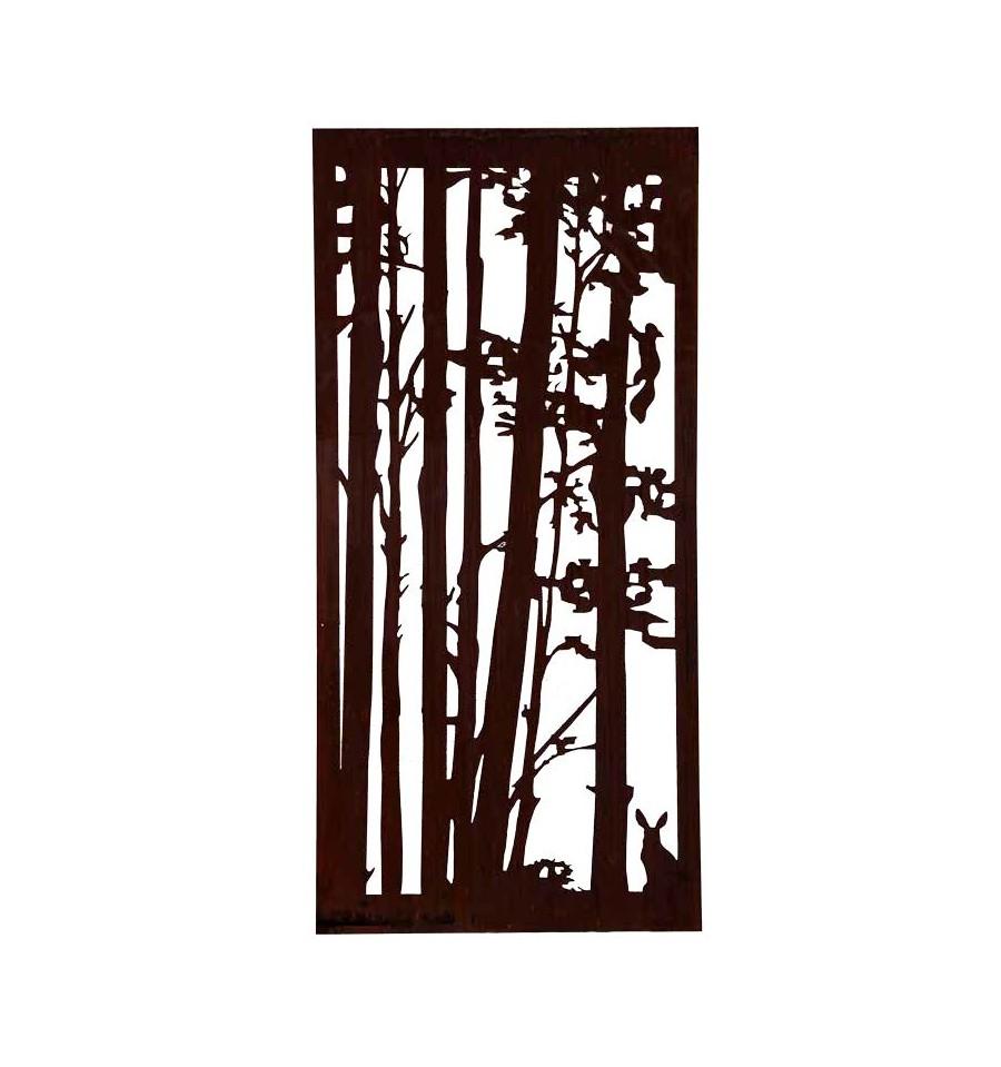 wild paravent hase und eichh rchnen 200 x 92 vom metallmichl edelrostshop. Black Bedroom Furniture Sets. Home Design Ideas