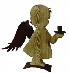 Engel 'Thea' angeflammt, Höhe 42 cm aus Fichtenholz