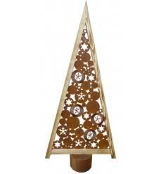 b ume weihnachtsb ume edelrost metallmichl. Black Bedroom Furniture Sets. Home Design Ideas