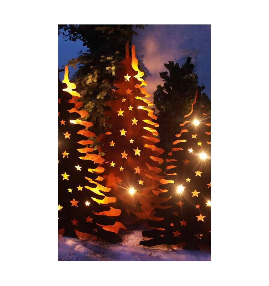 XXL Edelrost Bäume und Tannen von 1 - 2 Meter Höhe - Metallmichl