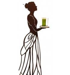 """""""Mademoiselle"""" mit Kleid als Rankhilfe, 125 cm hoch - runde Platte auf Hand,Steckverbindung"""