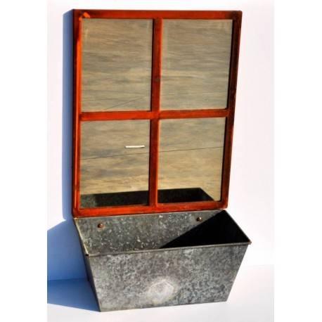 deko spiegel fenster mit pflanzgef 68 cm hoch. Black Bedroom Furniture Sets. Home Design Ideas