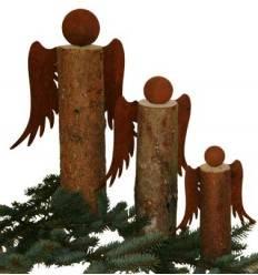 Bastelset für Engelfiguren aus Holz - Gr. 1 - Höhe 20 cm - zum Holzengel basteln 3-teilig