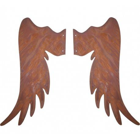 Engelsflügel Metallsatz 100 cm hoch Gr. 5 zum Anschrauben an Holzstamm