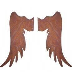 Engelsflügel aus Edelrost - Gr. 4 - Höhe 80 cm - zum Holzengel basteln