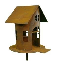 Vogelhaus mit Steg, klein, auf Stab, Gr. 2