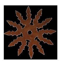 "Christbaumschmuck ""Schneekristall"", groß, Ø 22 cm"