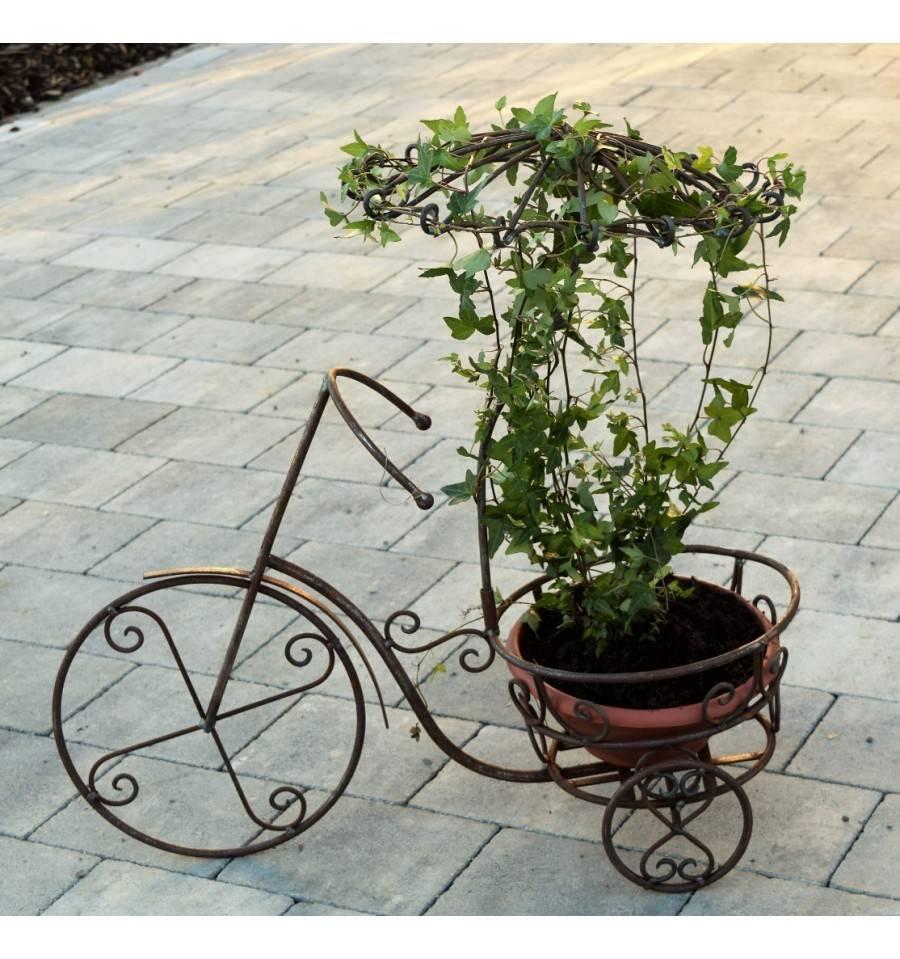 edelrost dreirad mit regenschirm zum bepflanzen 66 7 cm hoch. Black Bedroom Furniture Sets. Home Design Ideas
