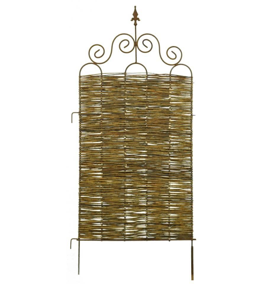 paravent aus weide geflochten 39 otti 39 h he 200 cm breite. Black Bedroom Furniture Sets. Home Design Ideas