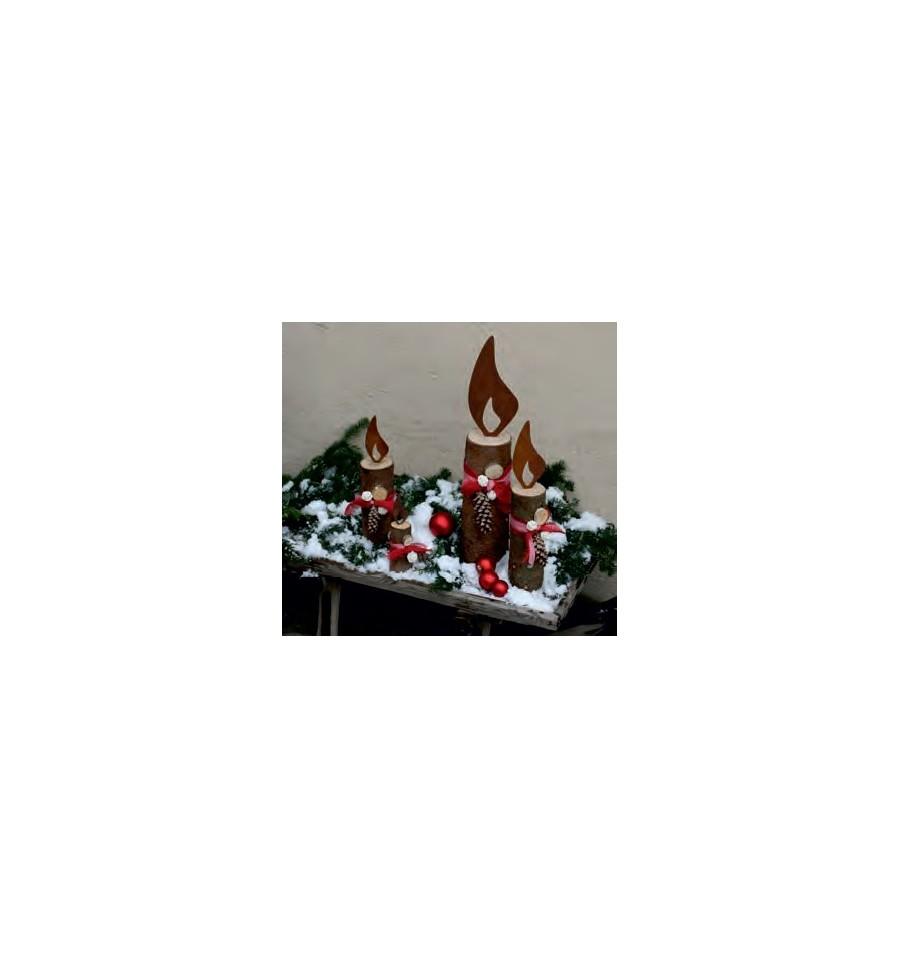 Edelrost Flamme 20 Cm F Rs Holz Wohndeko Winter Weihnachten