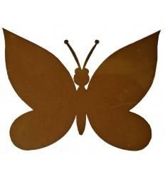 Edelrost Schmetterling zum Legen, Höhe 5,5 cm