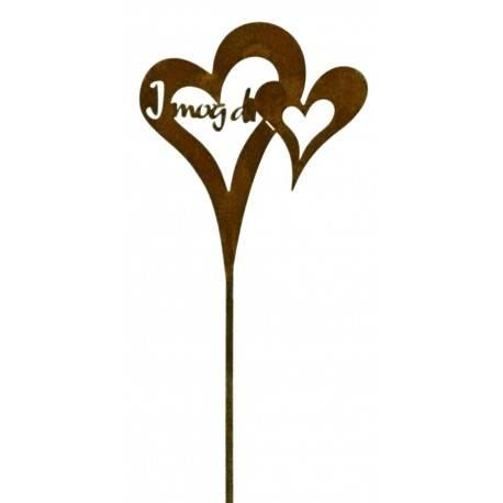 """für die Liebsten - Herz zum Stecken """"I mog di"""", Höhe 20 cm"""