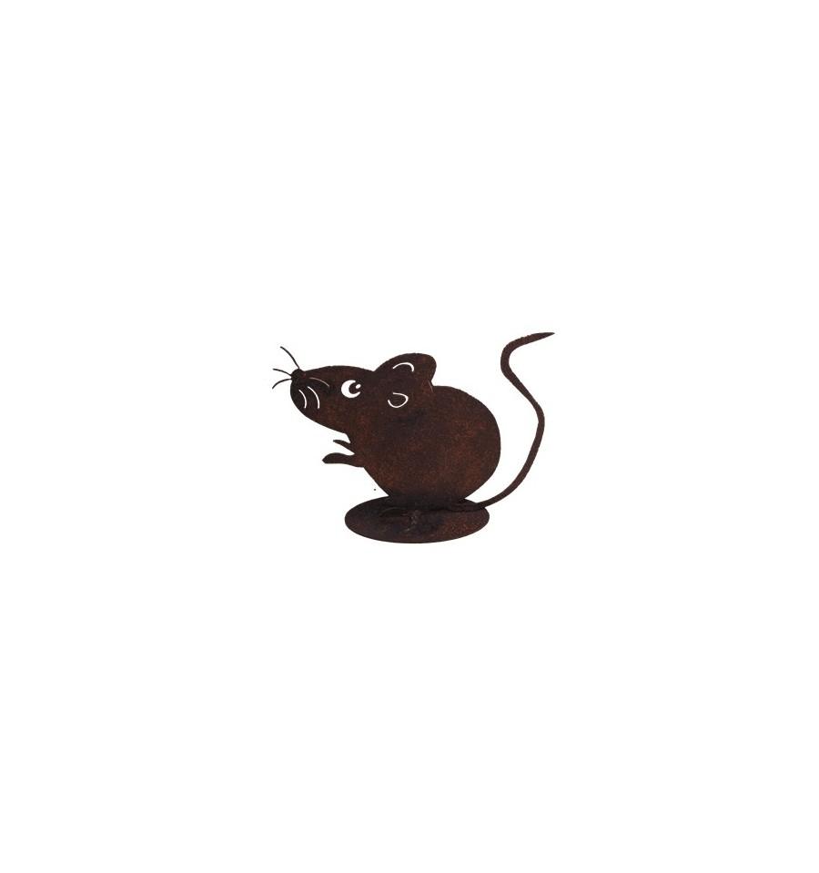 Maus gro 10 cm katz und maustiere metallmichl aus for Tiere aus rostigem eisen
