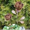 Gartendeko Rost Rose Gartenstecker 45 cm hoch Edelrost