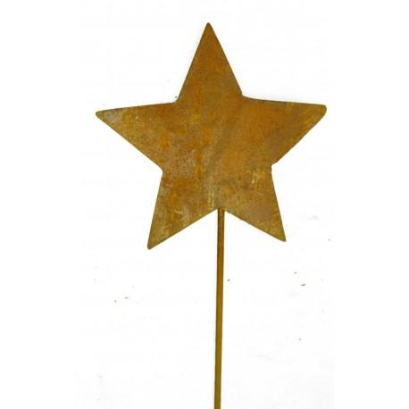 Stern Stecker geschlossen Symetrisch Ø 18 mit Stab 50 cm