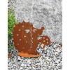 Rost Igel mit Pilz mittel, 26 cm hoch