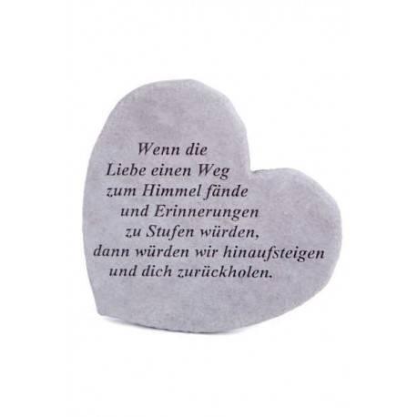 """Gedenkherz """"Wenn die Liebe.."""""""
