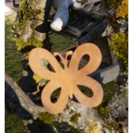 Metallsatz schmetterling als baumstecker zum einschrauben for Wohndesign sera