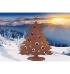 Weihnachtsbaum 'Tanne' Höhe, 120 cm für Christbaumkugeln