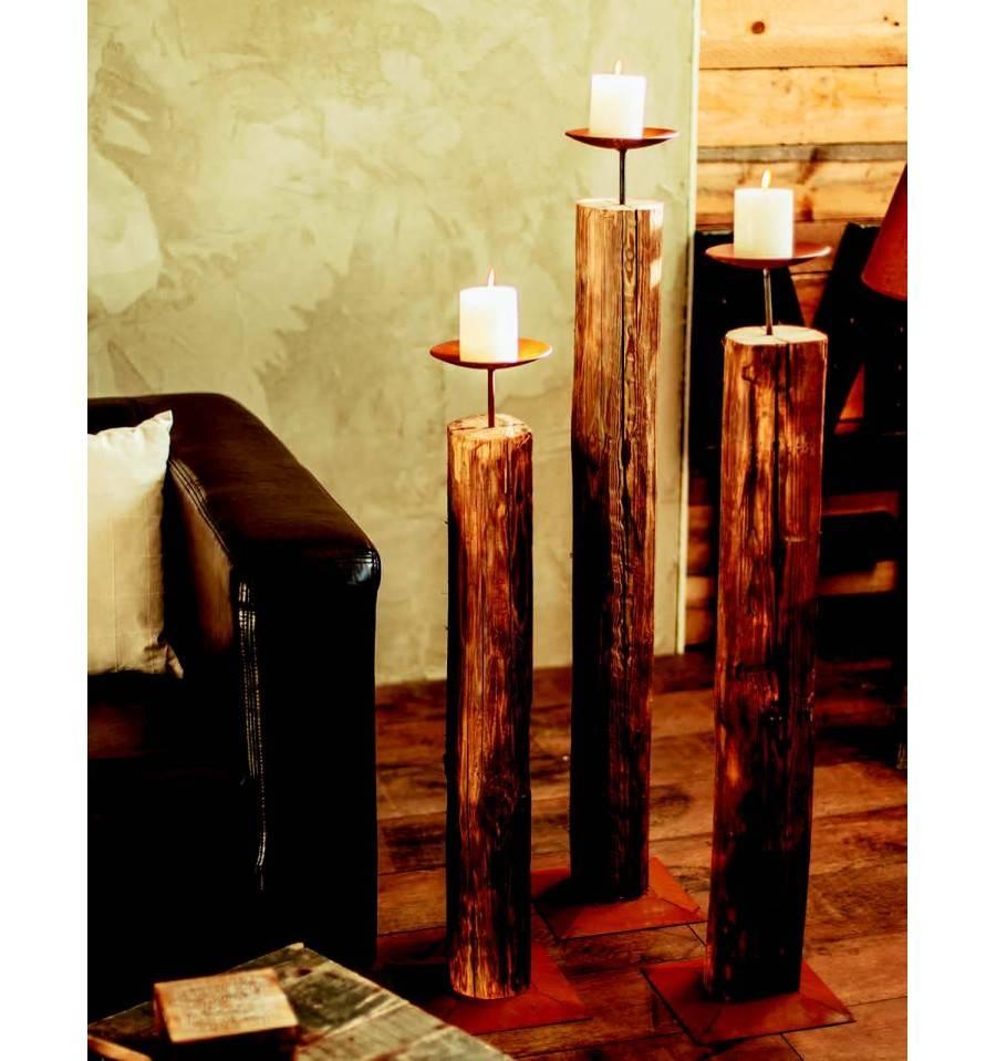 Kerzenständer Holz Groß : edelrost holz kerzenst nder gro 112 cm hoch 15 cm ~ Eleganceandgraceweddings.com Haus und Dekorationen