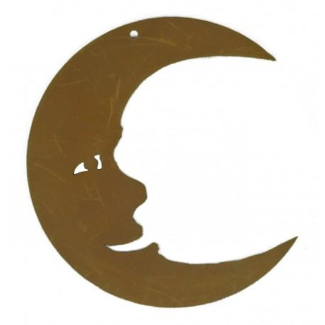 Christbaumschmuck Mond Edelrost Höhe 8 cm