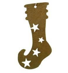 Christbaumschmuck Socke / Stiefel 8 cm in Edelrost