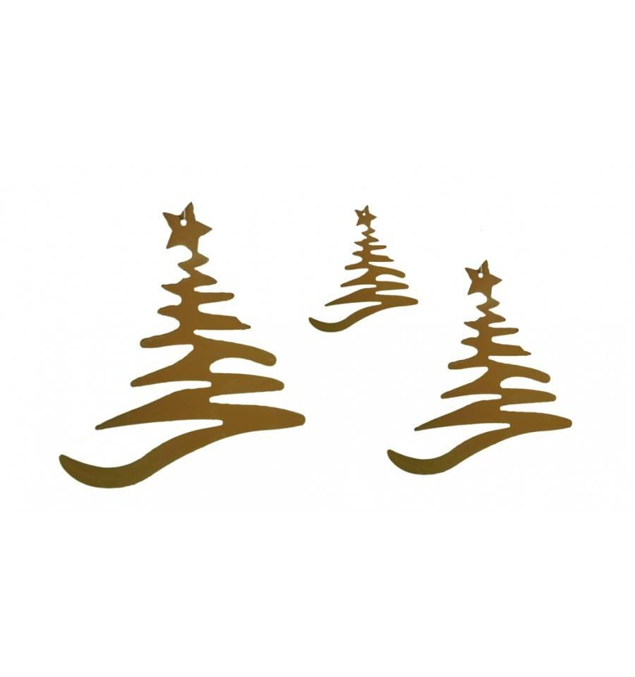 Christbaumschmuck Weihnachtsbaum 3er Set Metallmichl