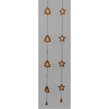 Girlande Weihnachtsstern zum Hängen, Länge 96 cm