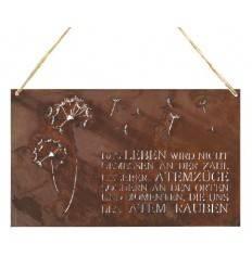 Rostschild Pusteblume zum Hängen 37 x 22 cm