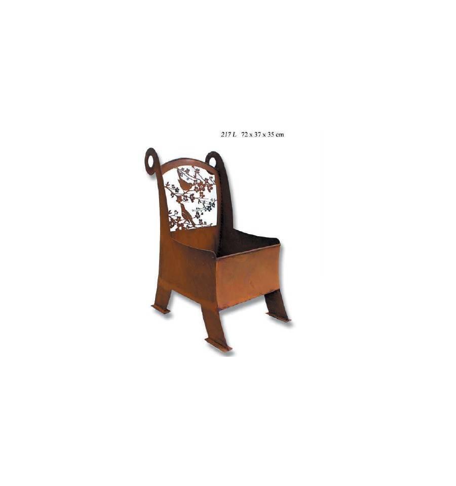 edelrost pflanzstuhl mit bl ten f r blumen salat und kr uter kaufen. Black Bedroom Furniture Sets. Home Design Ideas