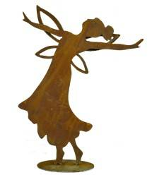 tanzende Fee mit gehobenen Händen, 49 cm hoch auf Platte
