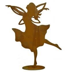 tanzende Fee 'Elanie' mit offenem Haar , Höhe 36 cm auf Platte