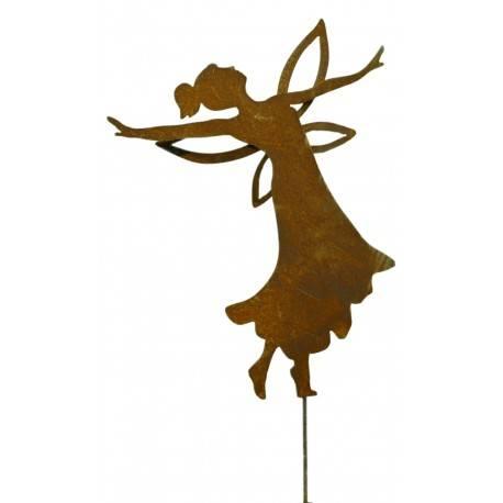 tanzende Fee, 49 cm hoch auf kurzem Stab
