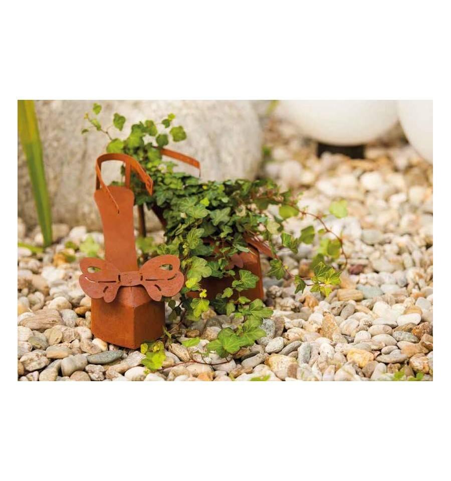 High heels paar im set mit schleife zum bepflanzen mit for Gartendeko zum bepflanzen